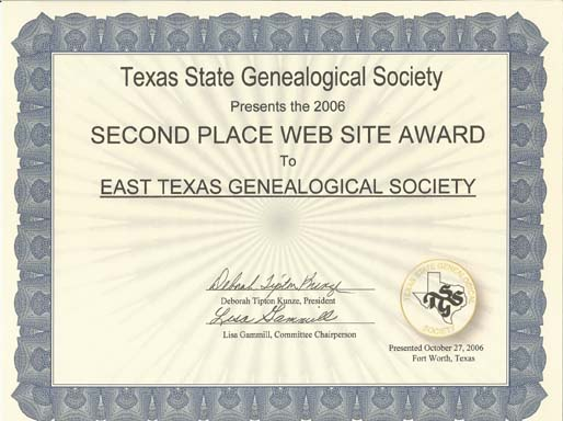 2006 TSGS Web site 2nd place